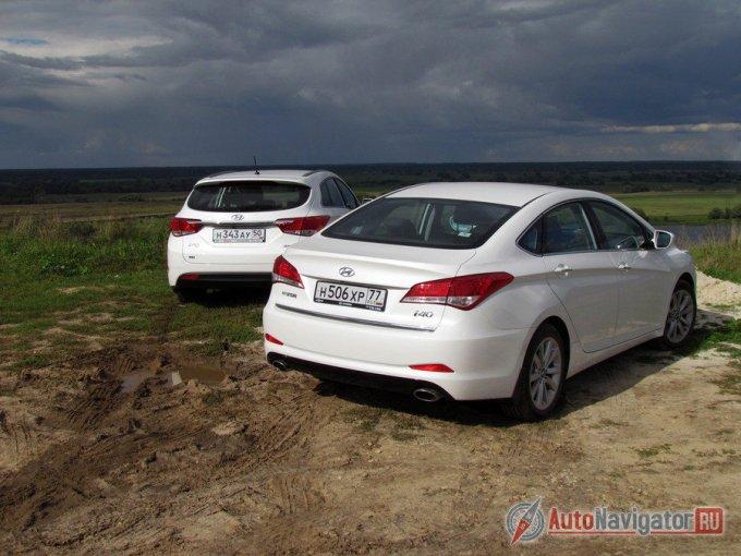 На фотосъемку в селе Константиново удалось «урвать» сразу две машины: i40 седан и i40 Wagon