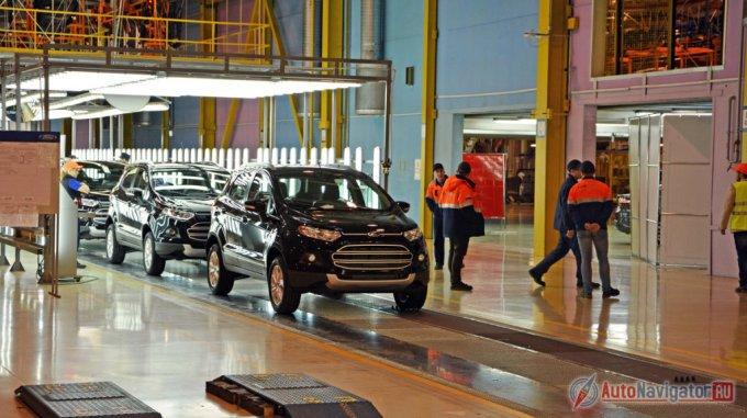 Серийное производство Ford EcoSport началось осенью 2014 года на заводе в Набережных Челнах