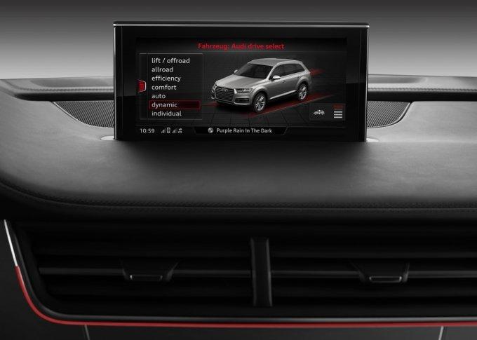 Система Audi drive select позволяет менять величину дорожного просвета, жесткость амортизаторов и прочие параметры автомобиля