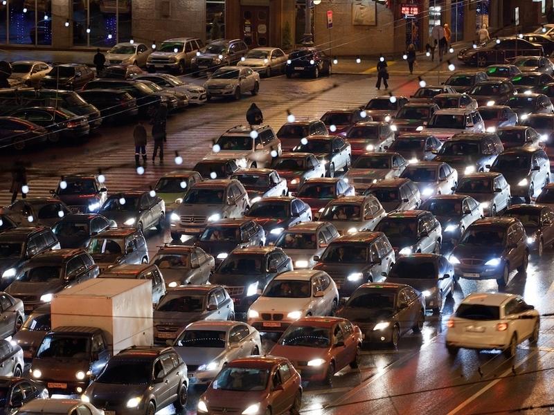 Пробки в столице России достигнут 10 баллов из-за работ поблагоустройству вцентре