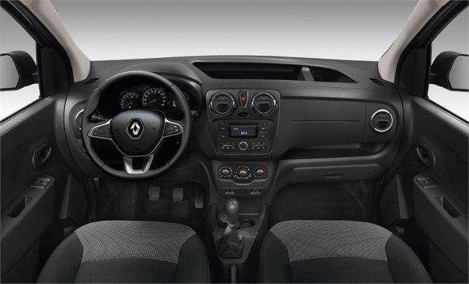 Интерьер Renault Dokker отличает просторный салон, хорошая обзорность и комфортные кресла