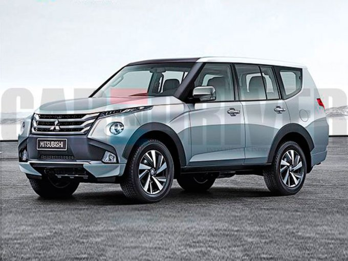 Possible option for the future Mitsubishi Pajero, according to independent designers, has been flashing for a long time on the Internet