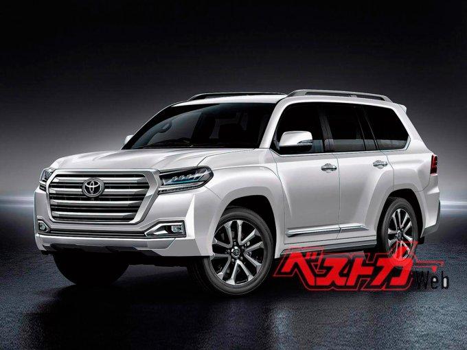 Возможные варианты дизайна Toyota Land Cruiser 300