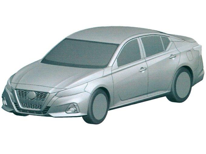 Новый Nissan Teana запатентовали в России