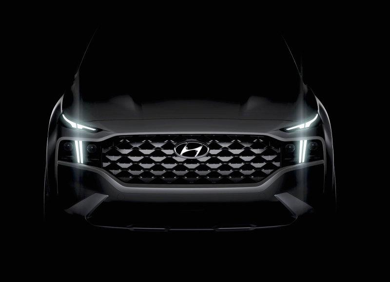 Оформление передней части Hyundai Santa Fe Luxury